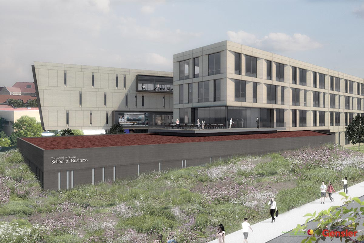 Capitol federal hall university of kansas school of business for Business building plans designs